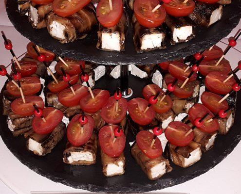 Aubergine mit Feta & Tomate