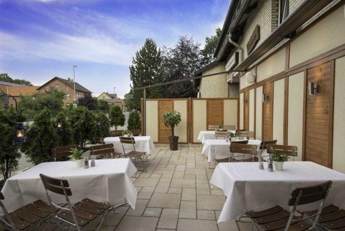 Die Terrasse vom Restaurant *Zum Köpenick*